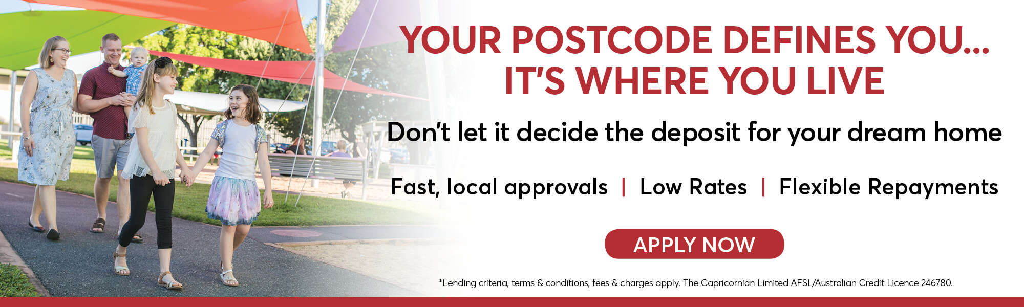 Home loan postcode