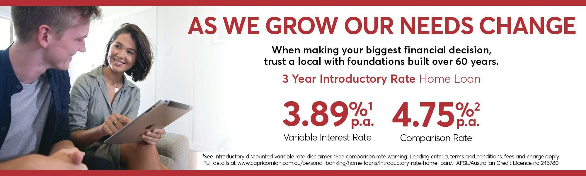 3 Year Introductory Rate Home Loan Couple