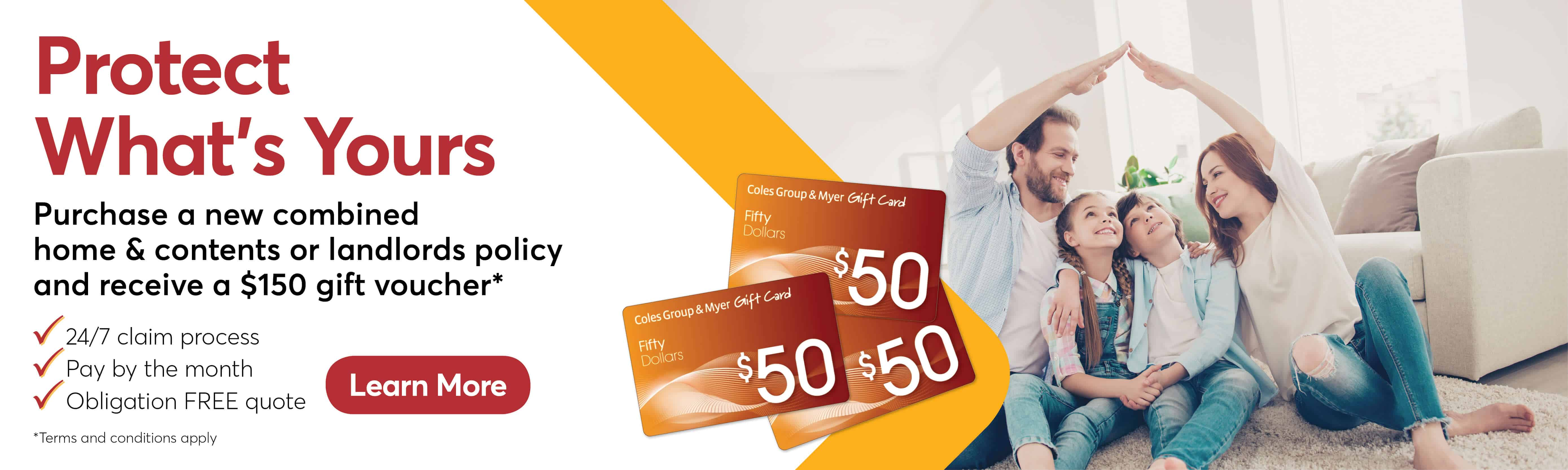 Insurance Gift Card Promotion